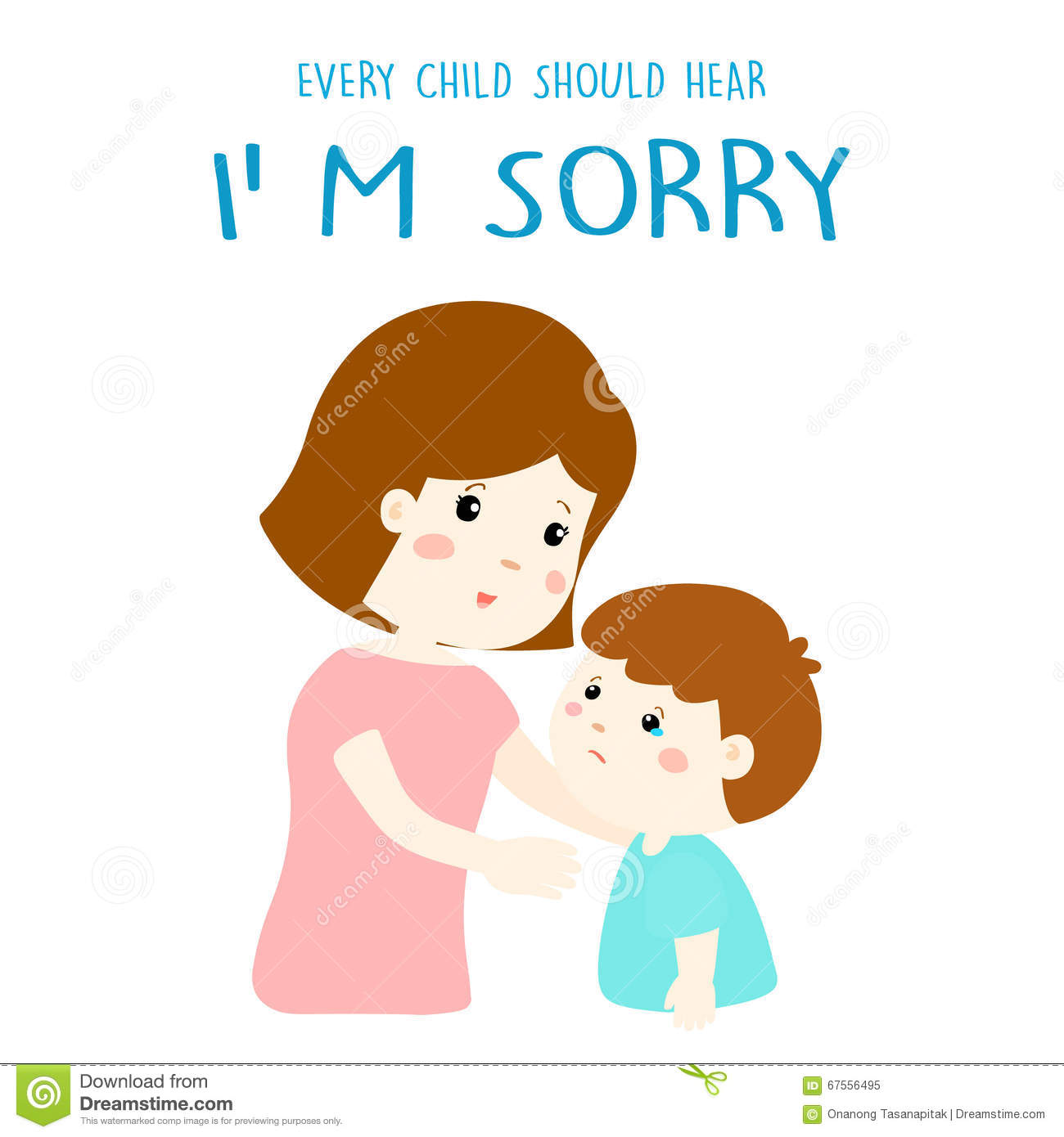 Every Child Should Hear I M Sorry Stock Vector