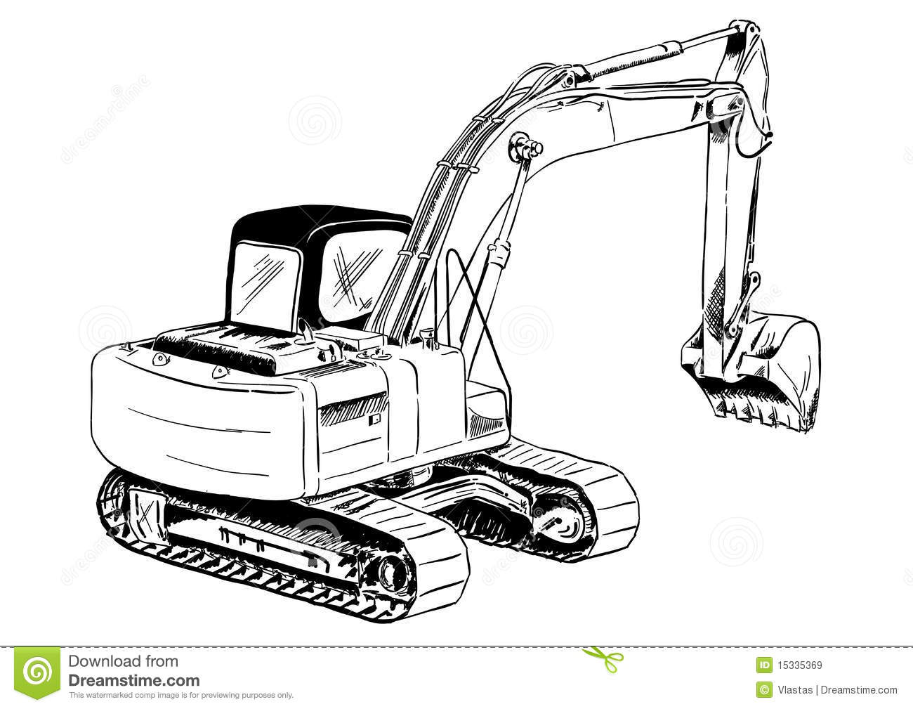 Excavator Stock Vector Illustration Of Equipment