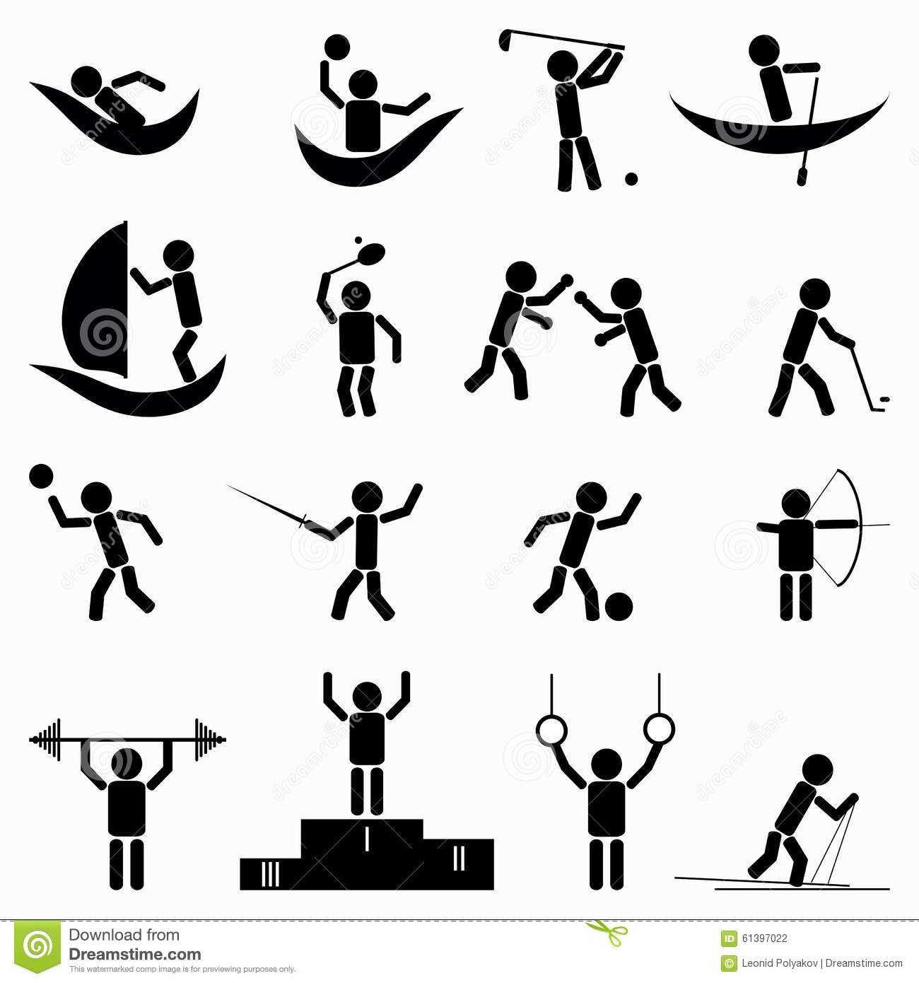 Exercise Fitness Health And Gym Icons Vector