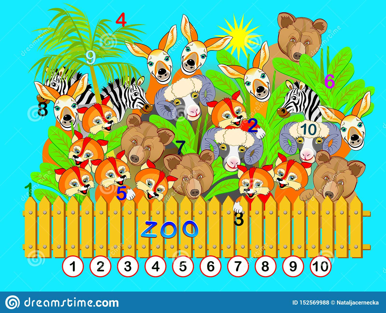 Exercise For Young Children Need To Find The Numbers From
