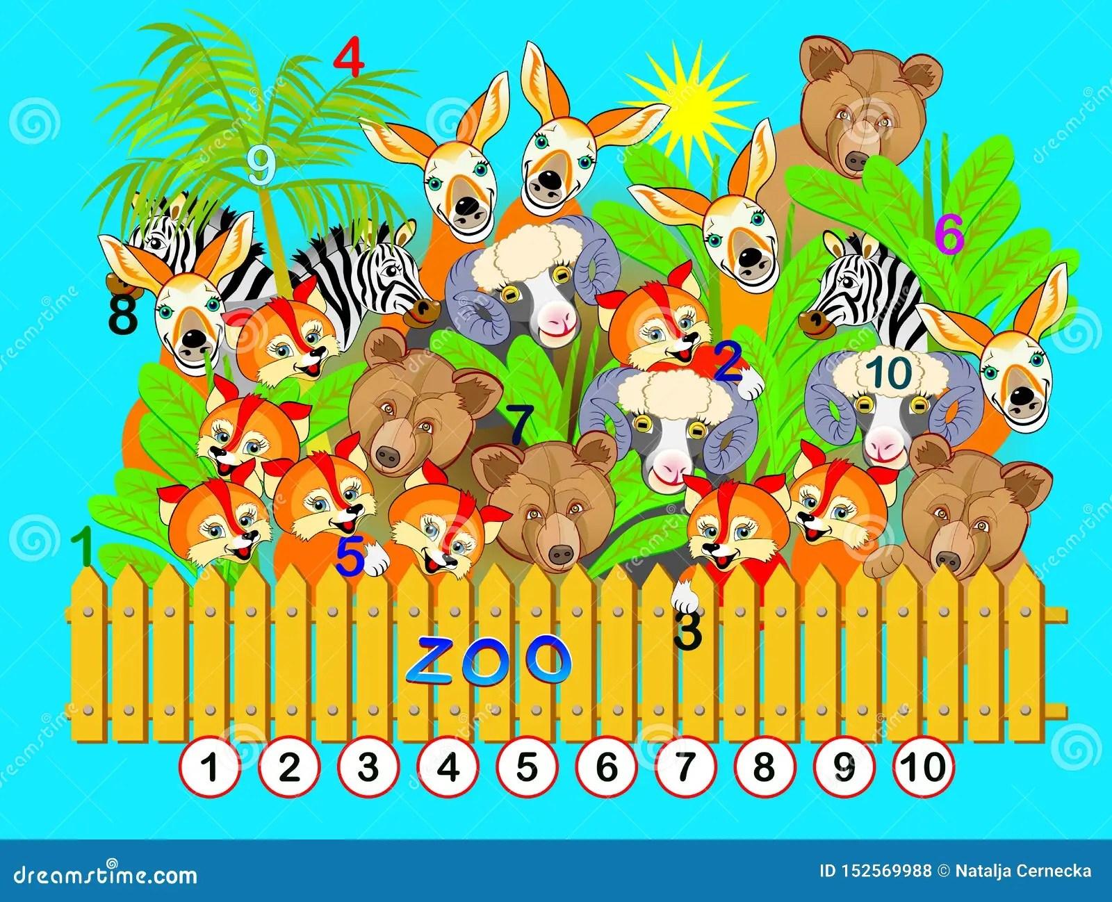 Exercise For Preschool And Kindergarten Kids Numbers 1 To