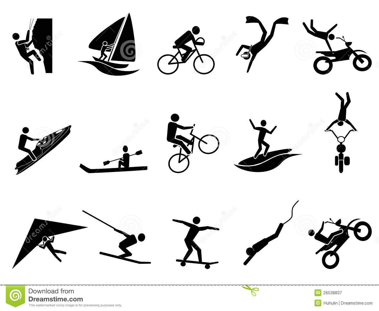 Extreme Sports Icon Set Stock Vector Image Of Outdoor