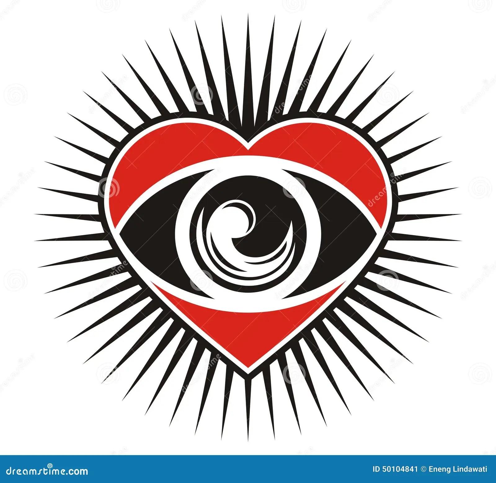 Eyes Of The Heart Stock Illustration Illustration Of