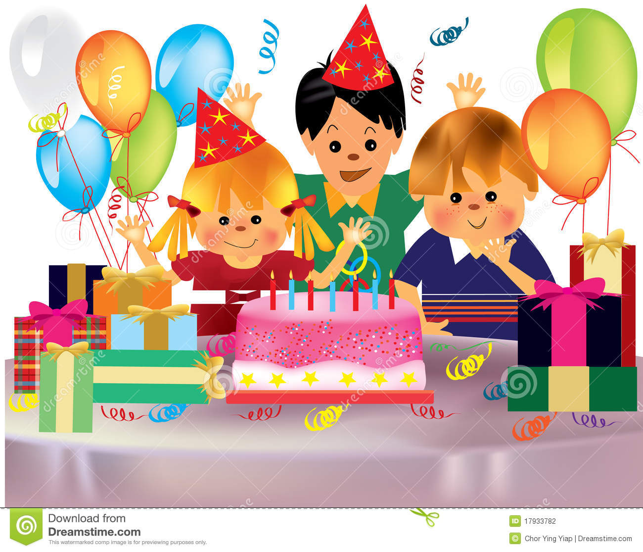 Fete D Anniversaire Heureuse De Childrenas Illustration De