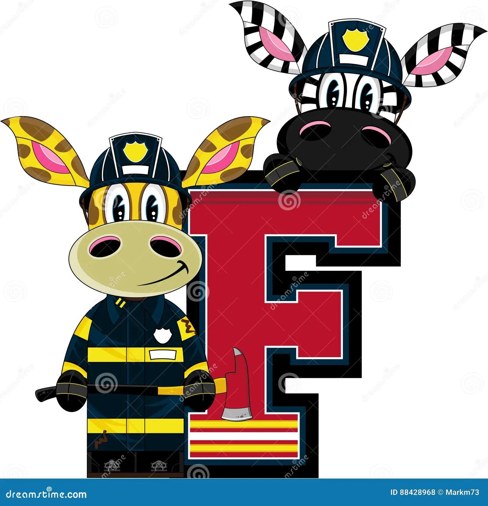 F Is For Fireman Stock Vector Illustration Of Letter