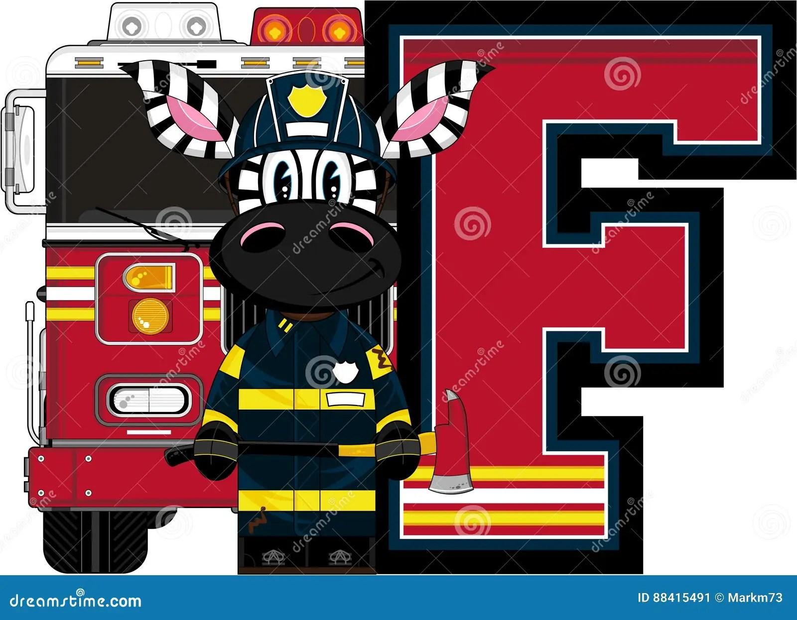 F Is For Fireman Stock Vector Illustration Of Alphabet