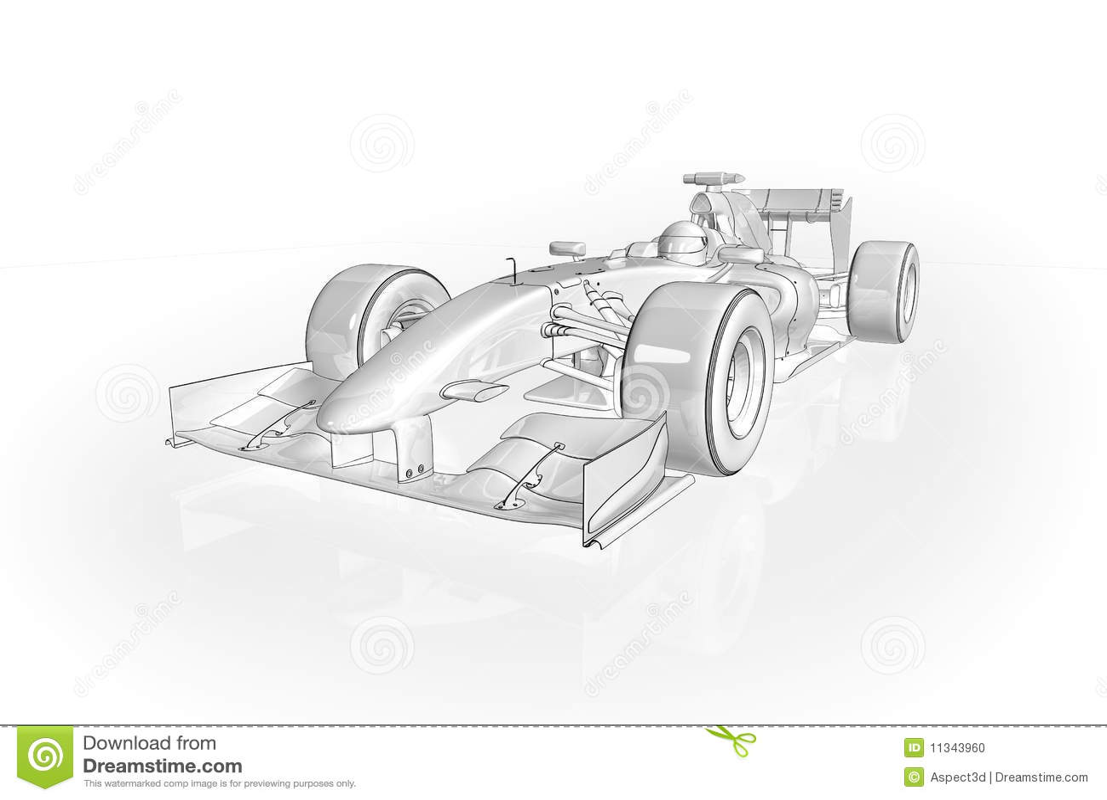 F1 Car Stock Illustration Image Of Competitive Blueprint