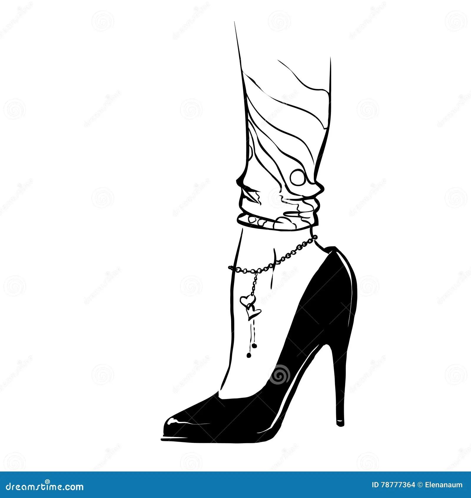 Faconnez L Illustration Avec Des Jambes De Femme Portant