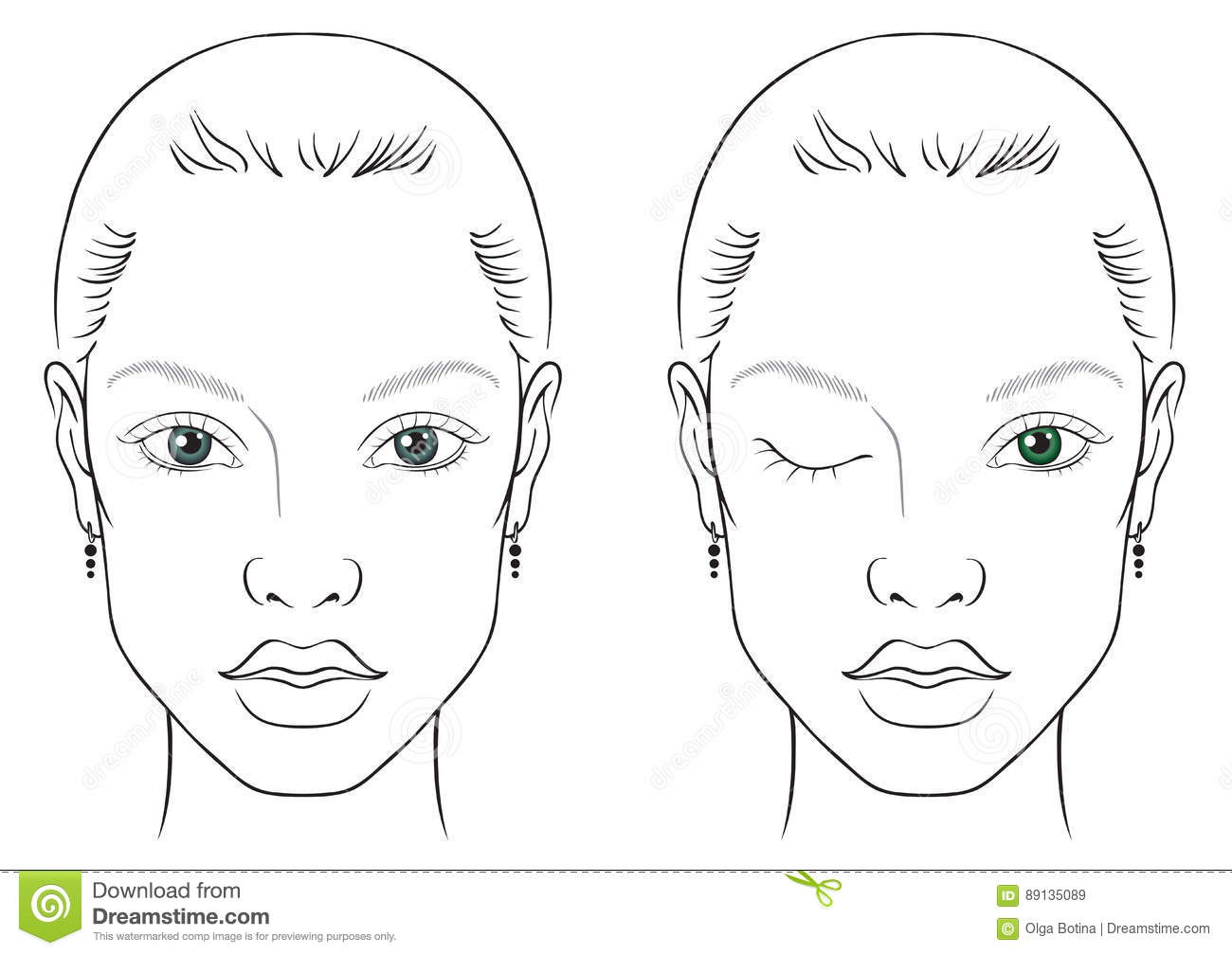 Face Chart Woman Stock Vector Illustration Of Chart