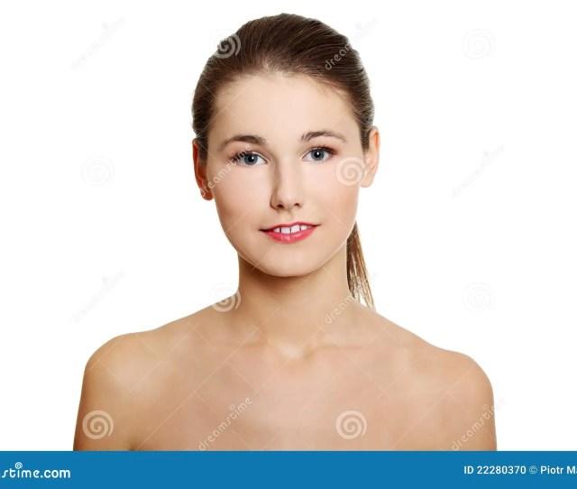 Face Closeup Of A Naked Teen