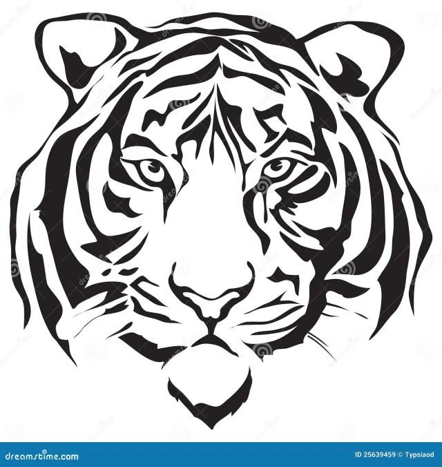 Face Tiger Stock Illustrations – 27,27 Face Tiger Stock
