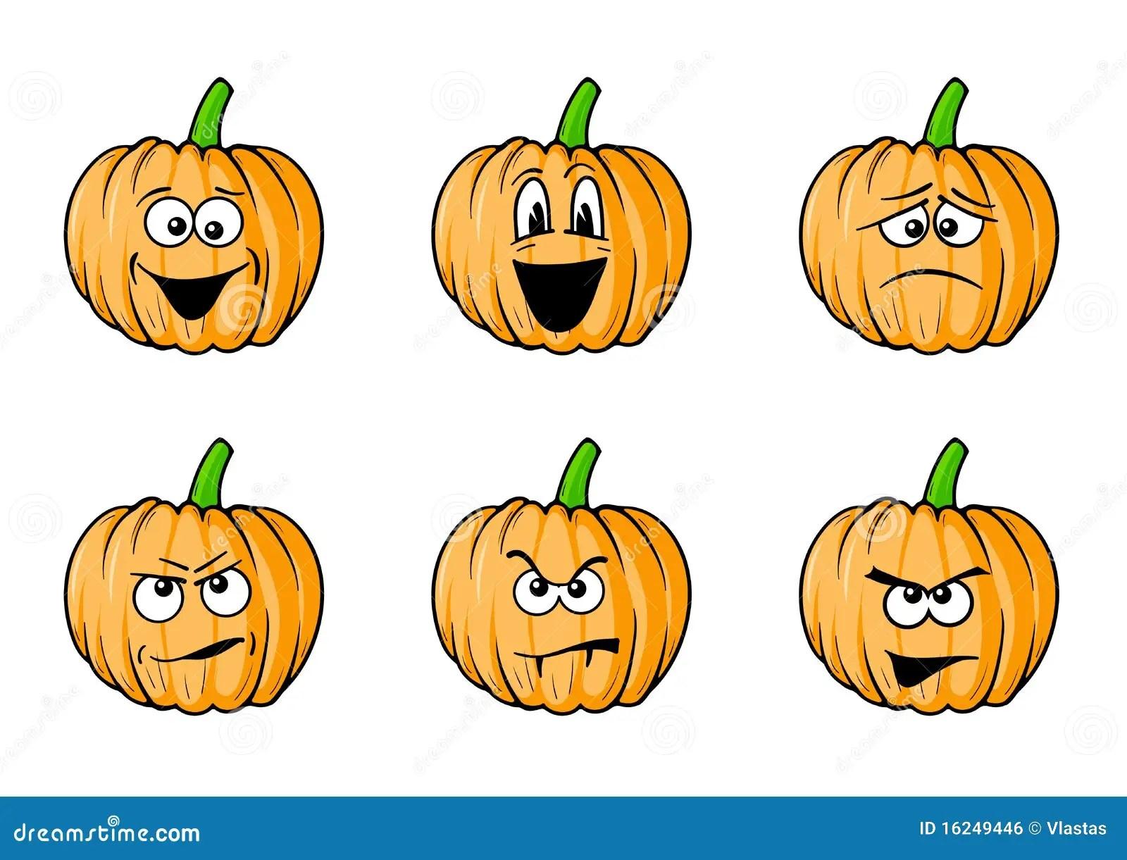 Faces Pumpkins Stock Illustration Illustration Of Funny