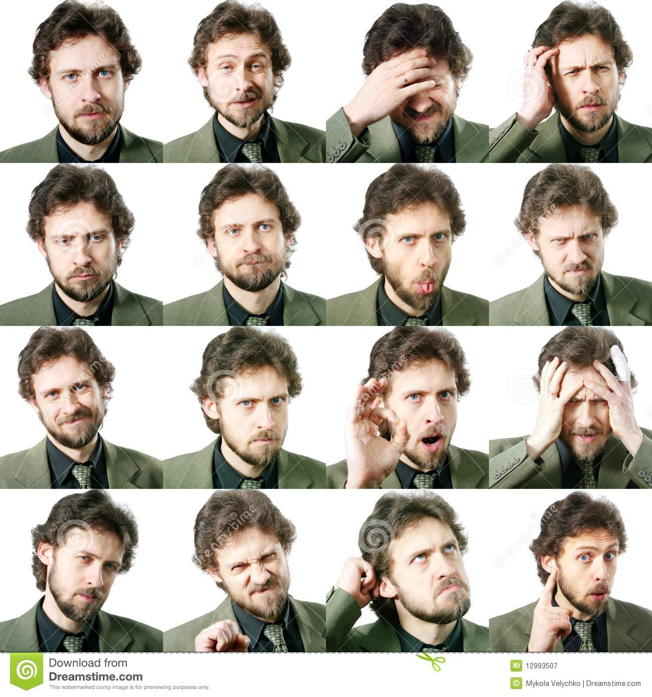 Facial Expressions Stock Image Image Of Comedy Composite