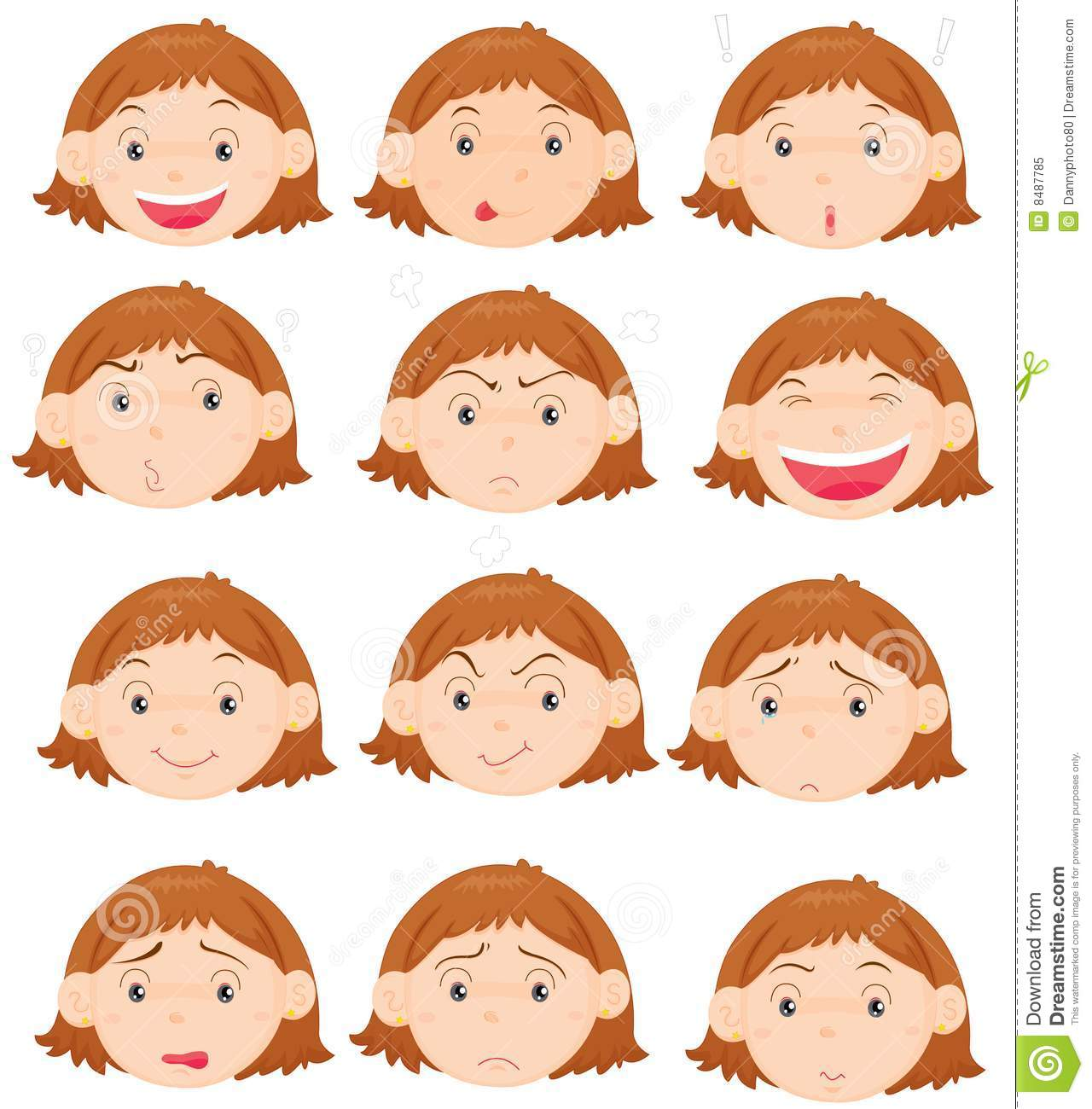 Facial Expressions Stock Illustration Illustration Of