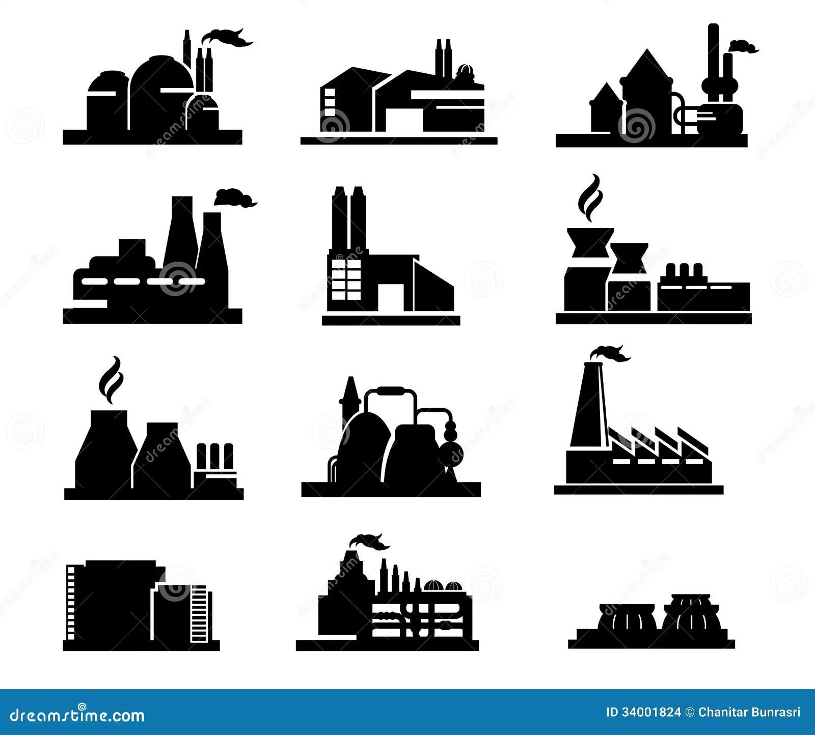 Factory Icon Stock Vector Illustration Of Clip Icon