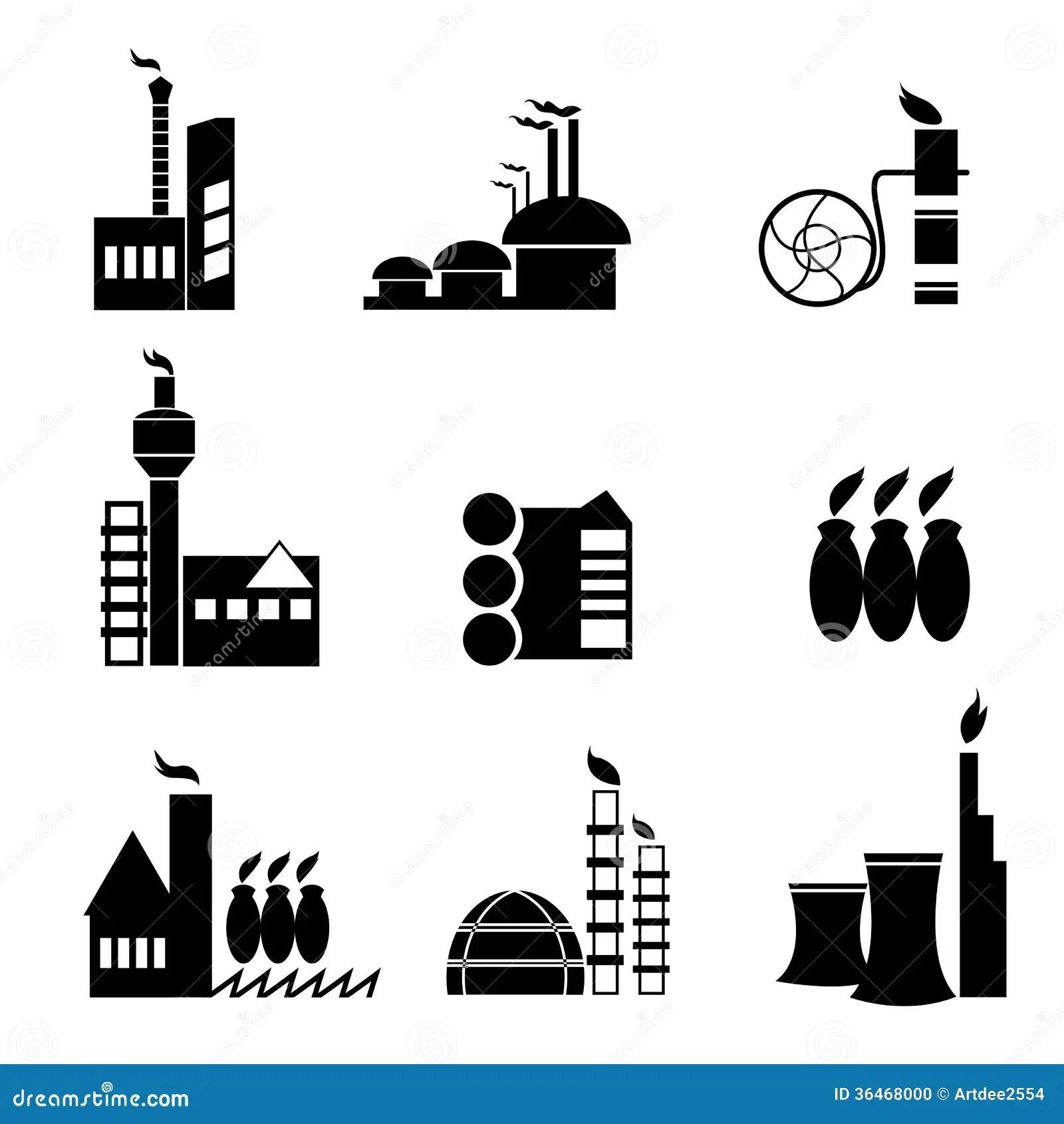 Factory Icon Vector Stock Photo