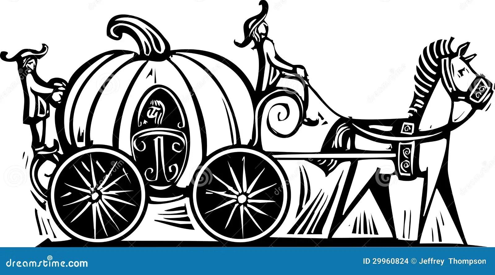 Cinderellas Carriage Stock Vector Illustration Of Goose
