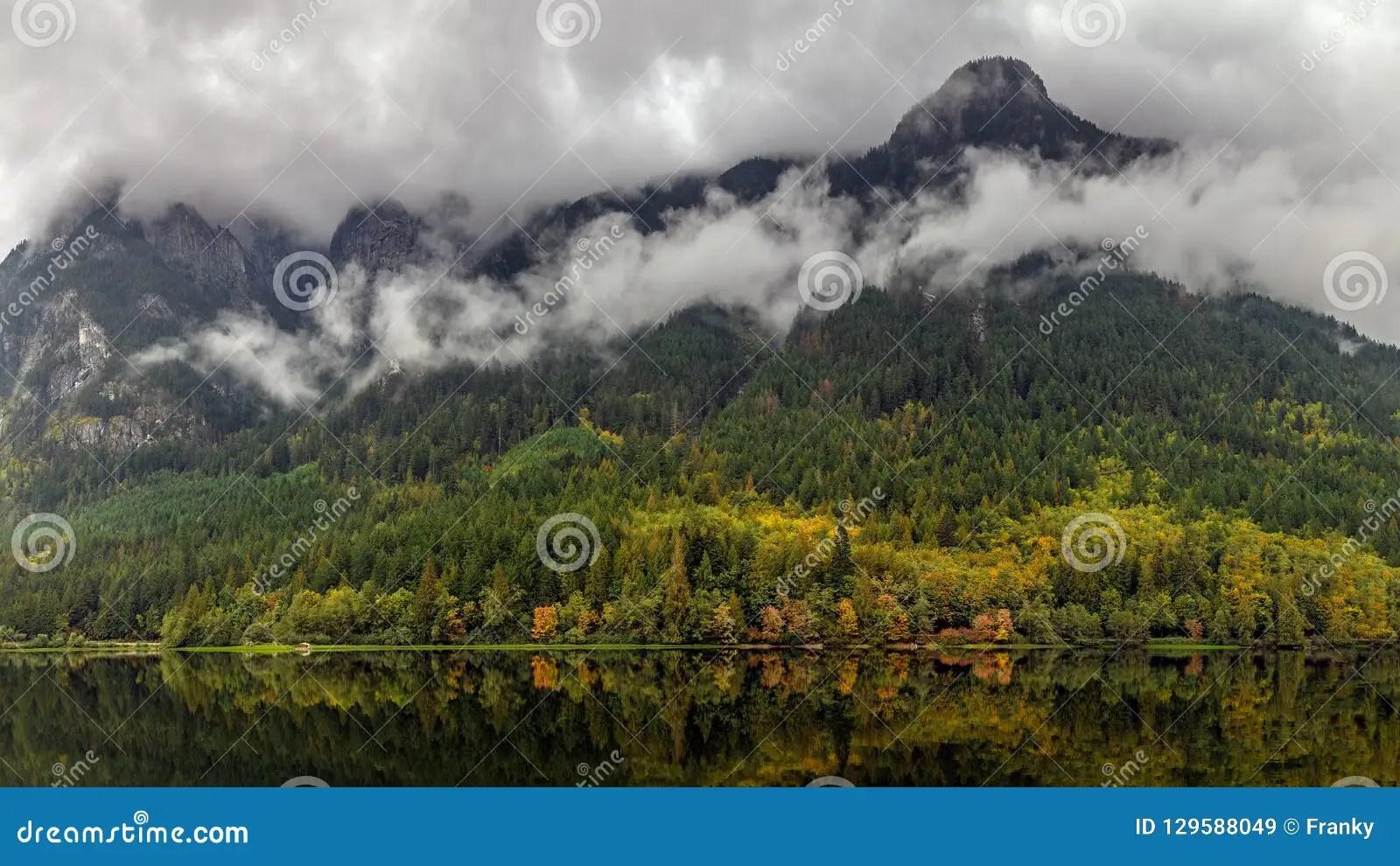 Skagit River Valley Stock Photo