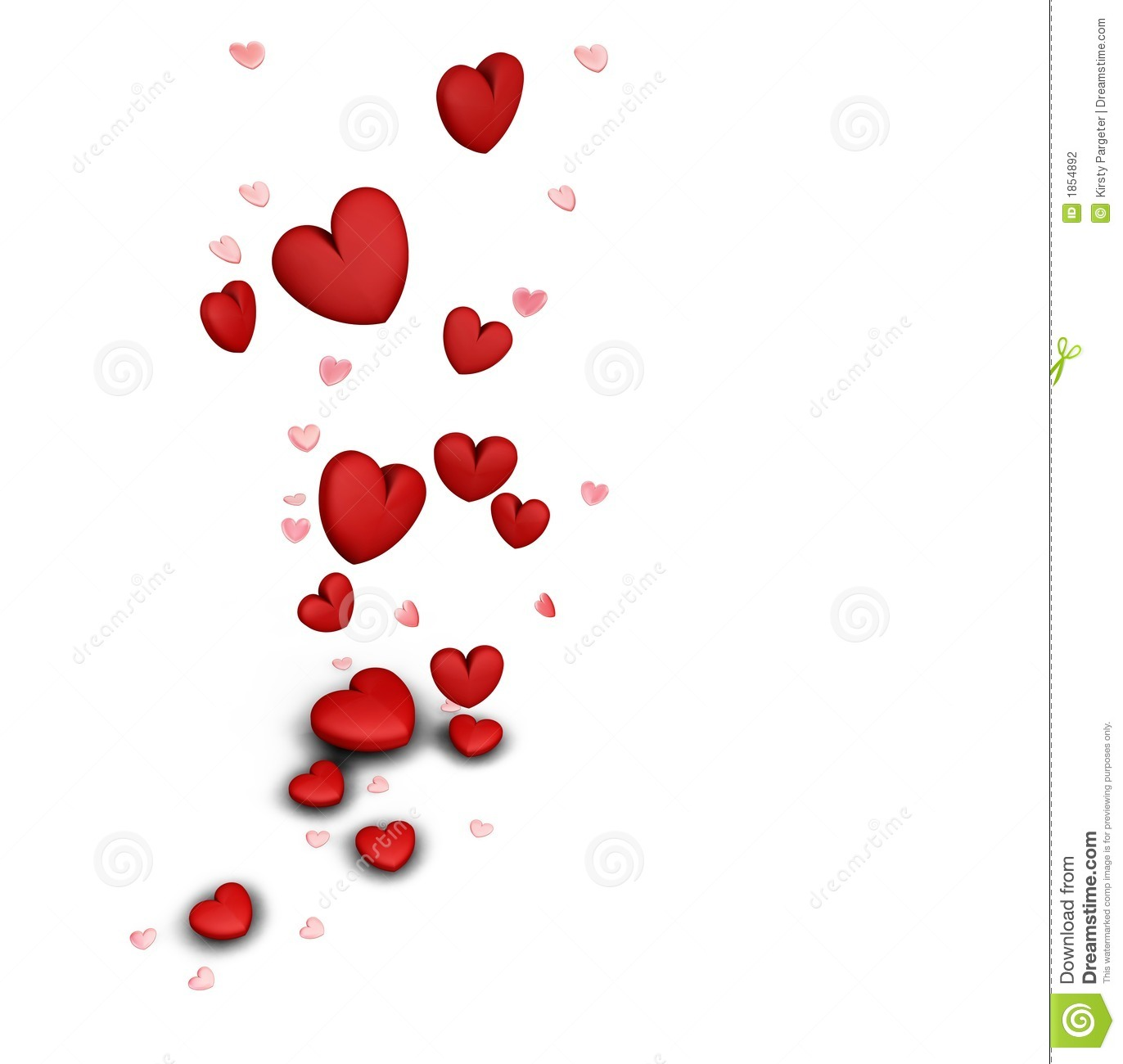 Falling Hearts Stock Photography Image 1854892