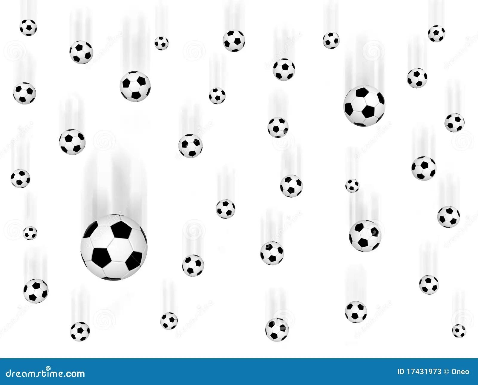 Falling Soccer Balls Stock Illustration Image Of Circle