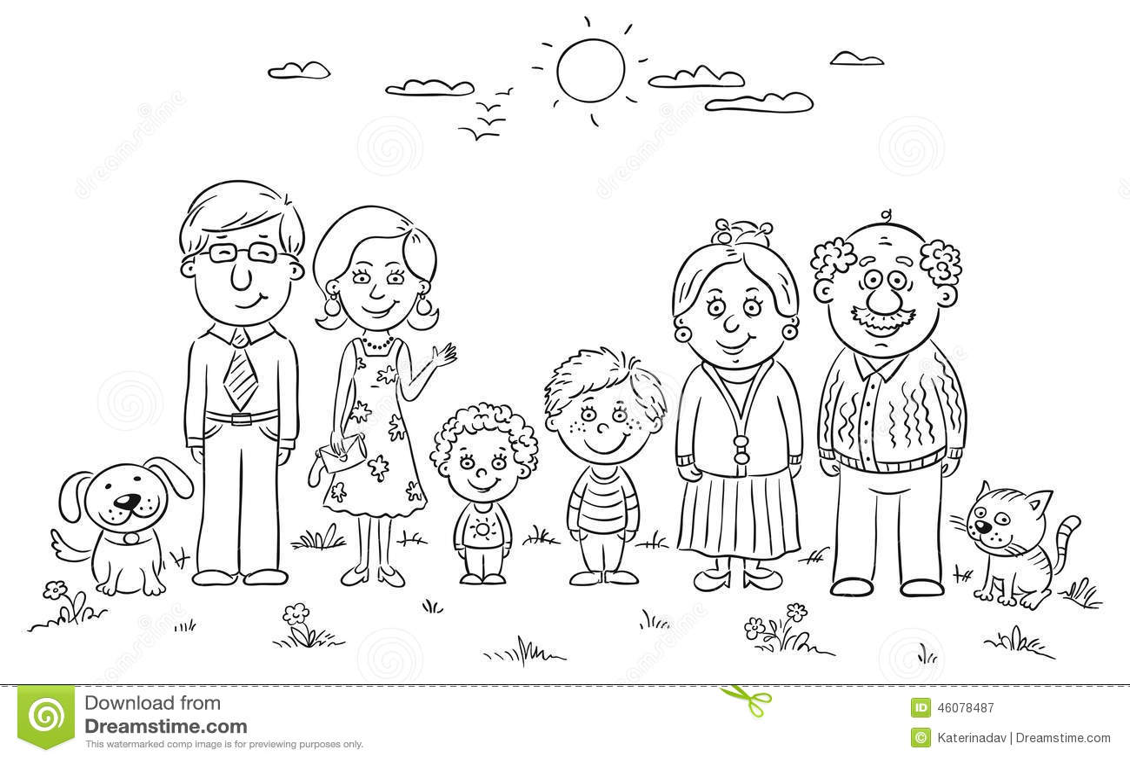 Familia Feliz Grande Ilustracao Do Vetor Ilustracao De