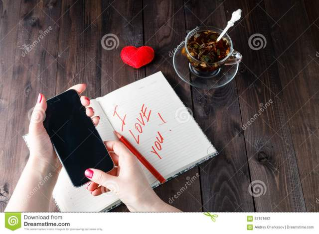 Famale write love sms stock photo. Image of letter, caucasian
