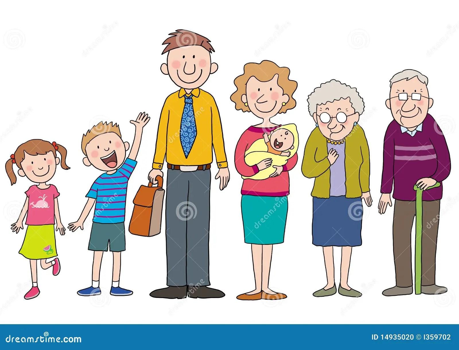 Famille Illustration Stock Illustration Du Gosses Mere