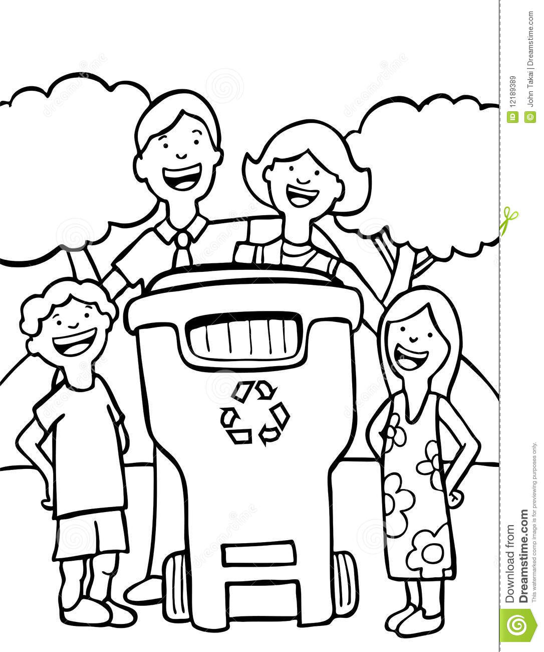 Family Recycling Royalty Free Stock Images
