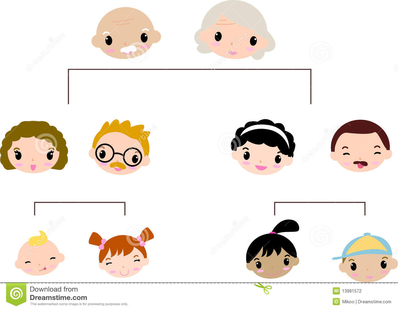 Family Tree Stock Vector Illustration Of Icon Relative