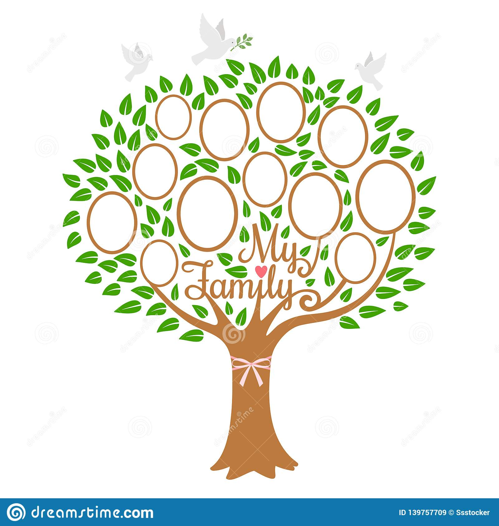 Family Tree Generation Genealogical Tree With Photo Place