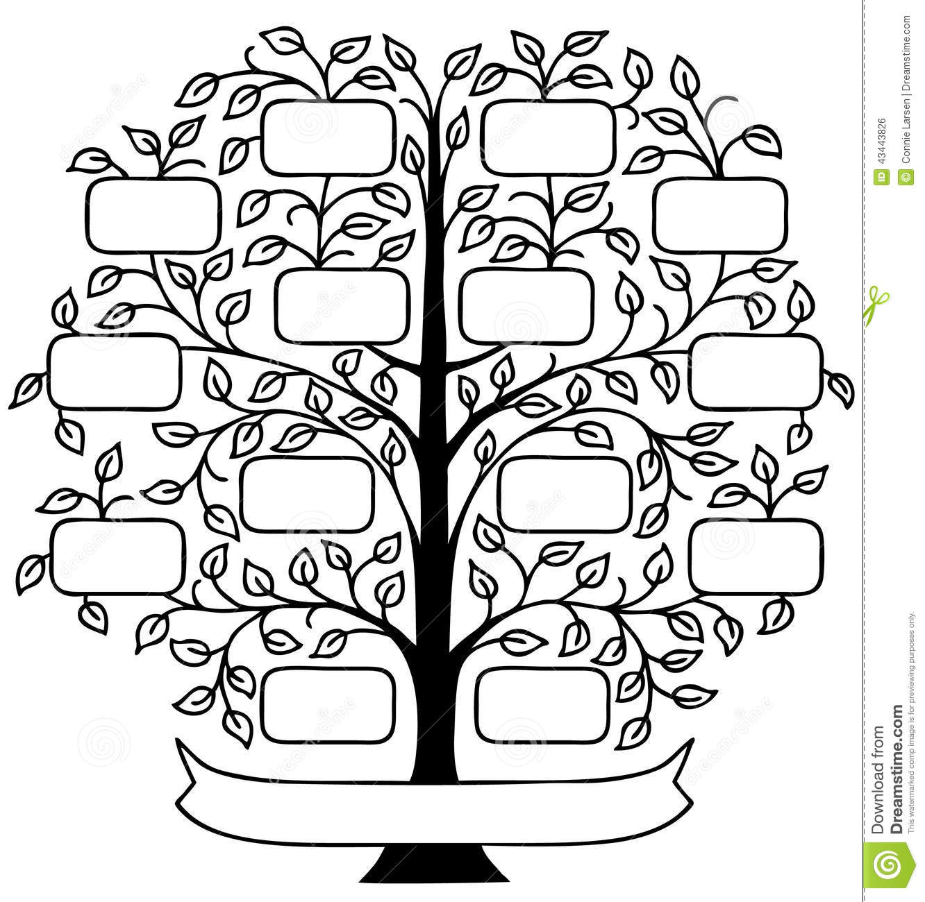 Family Tree Eps Stock Vector Illustration Of Chart