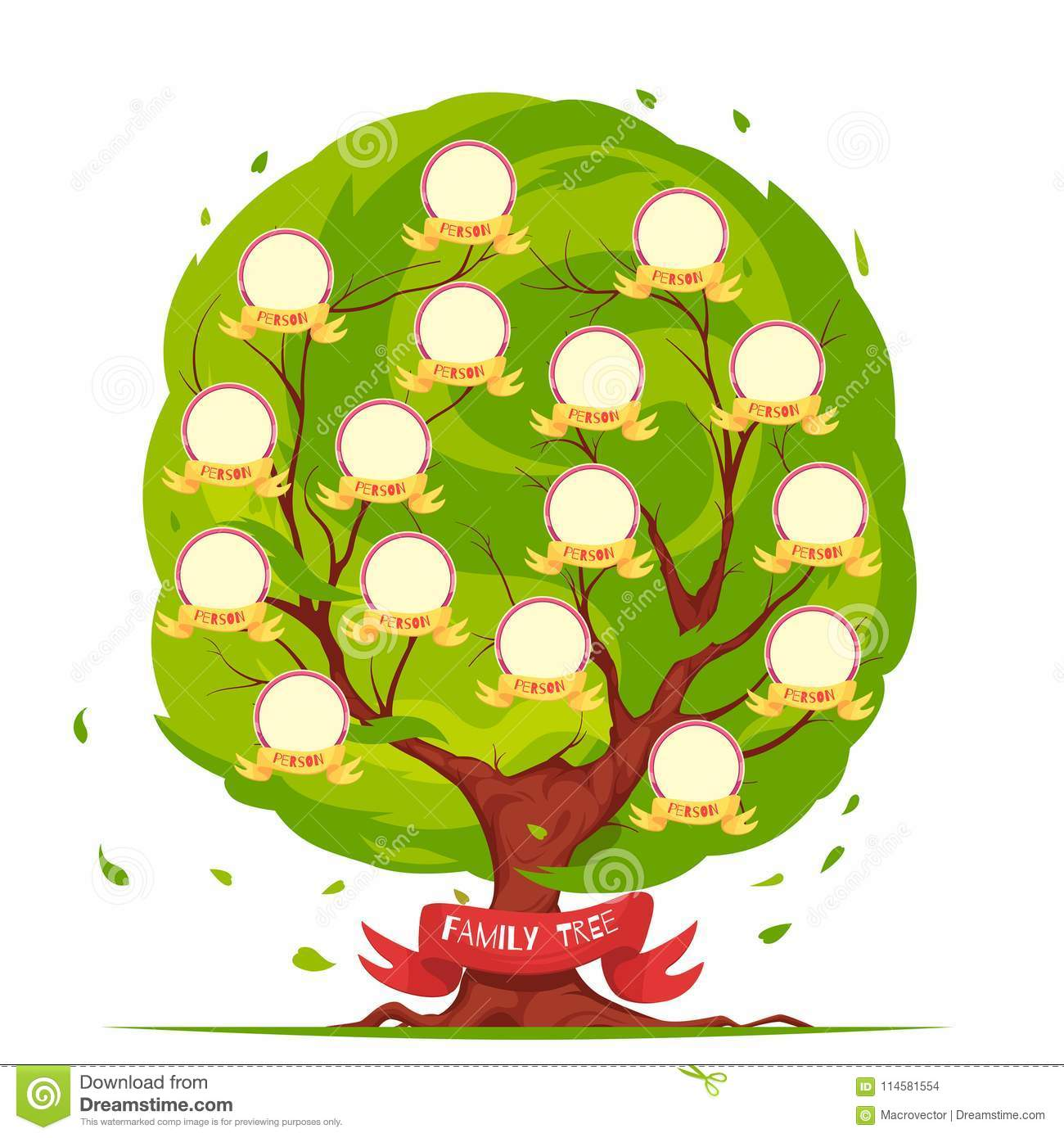 Family Tree Template Stock Vector Illustration Of Branch