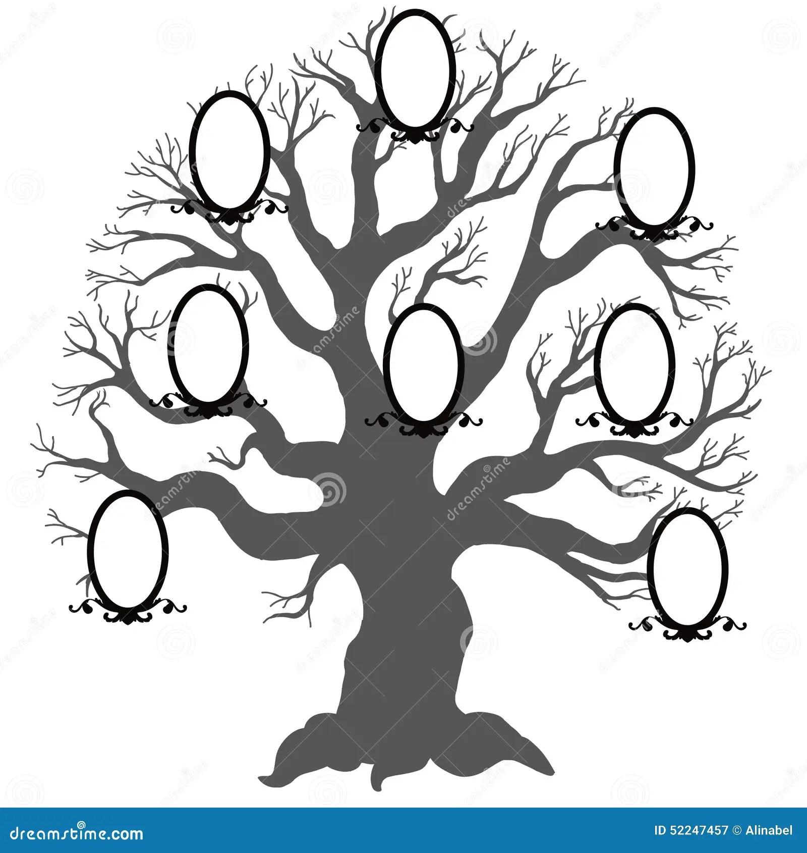 Family Treector Illustration Stock Vector