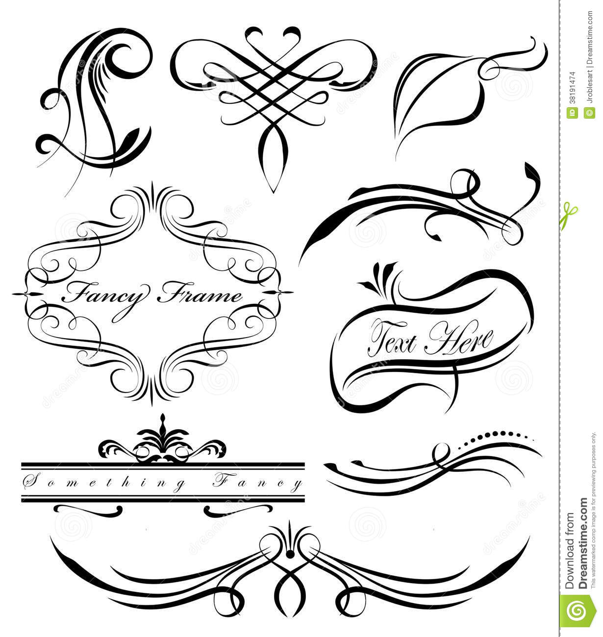 Fancy Lines 3 Stock Vector Illustration Of Classic