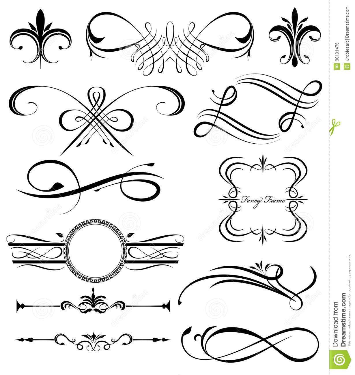 Fancy Lines 4 Stock Vector Illustration Of Elements