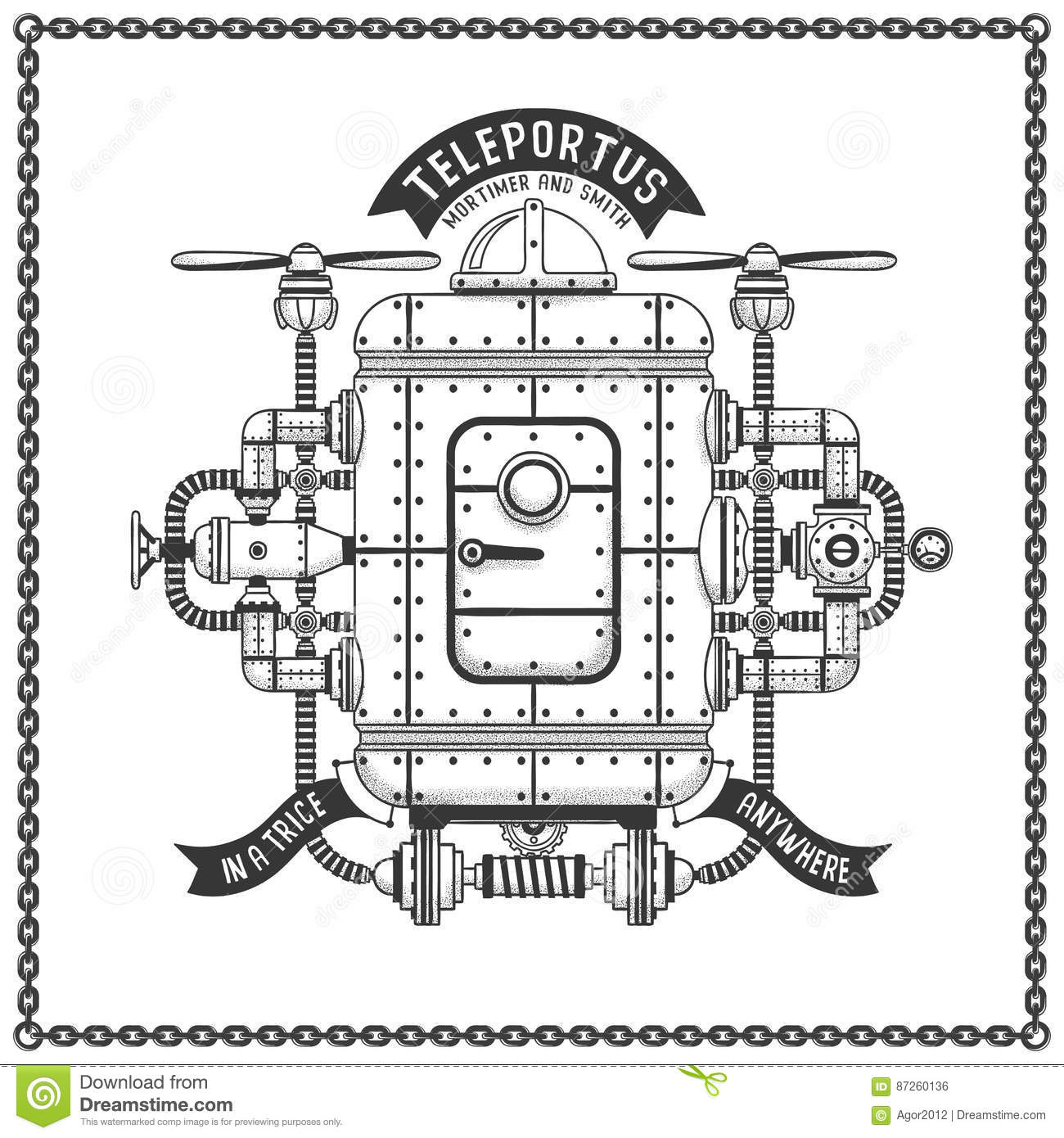 Steampunk Flying Machine 6 Royalty Free Stock Photography