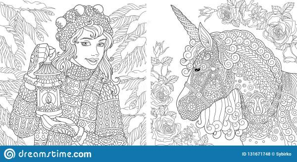 fantasy coloring pages for adults # 6
