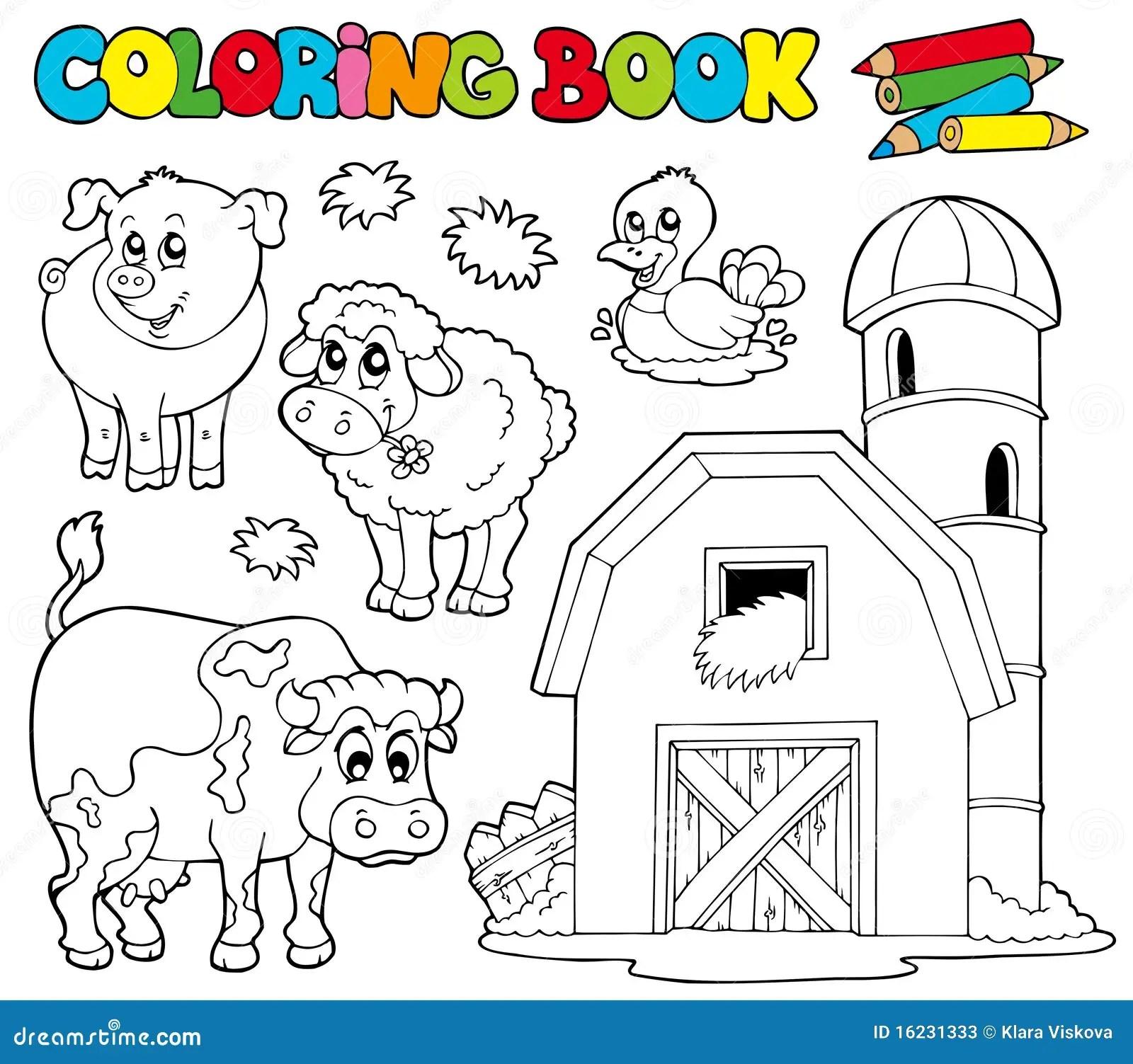 Farbtonbuch Mit Vieh 1 Vektor Abbildung Illustration Von