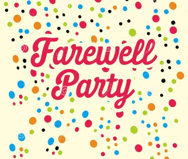 Farewell Party Illustration Vector Art Logo Template And Illustration