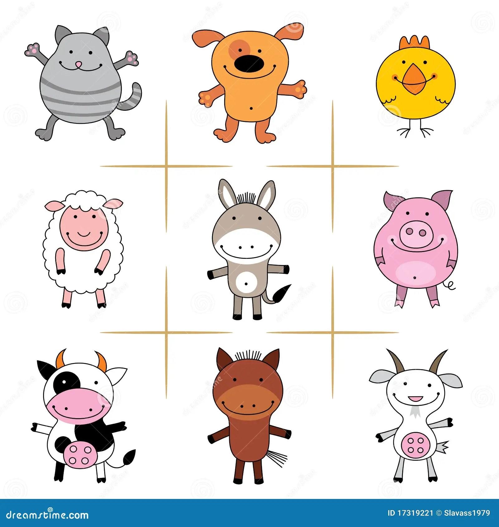 Farm Animals Stock Vector Illustration Of Farm Wild