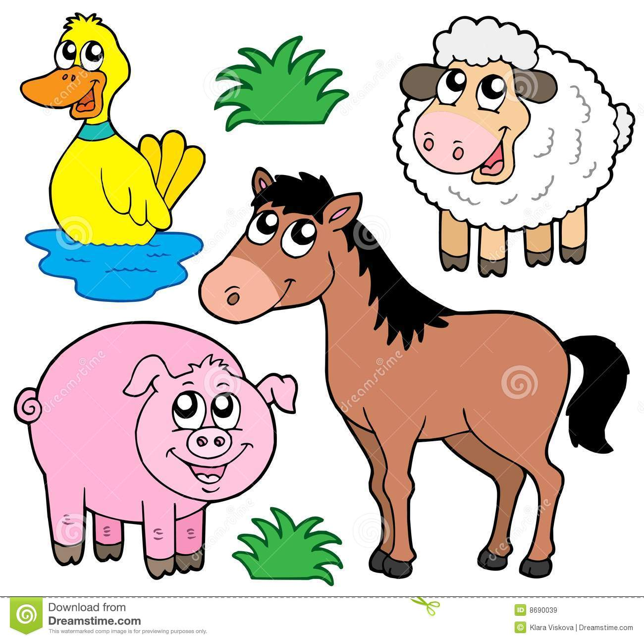 Farm Animals Collection 5 Stock Vector Illustration Of