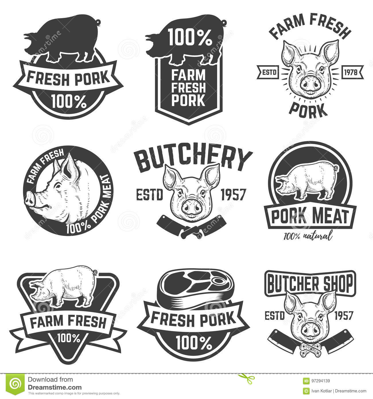 Pork Cartoons Illustrations Amp Vector Stock Images