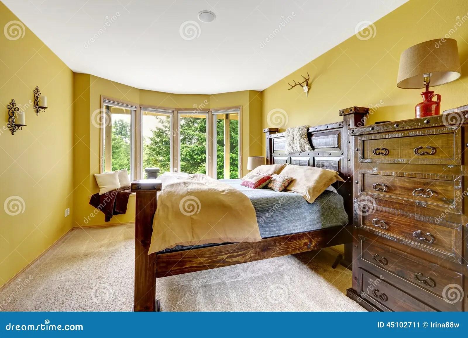 Farm House Interior Luxury Bedroom Interior With Rich