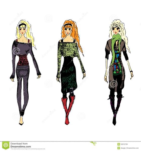Fashion croquis stock vector  Illustration of lighter   52012709 Download comp