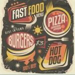 Fast Food Restaurant Menu Creative Design Concept Stock Vector Illustration Of Funky 1950s 57394794