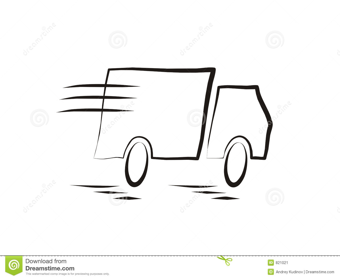 Fast Moving Truck Stock Image
