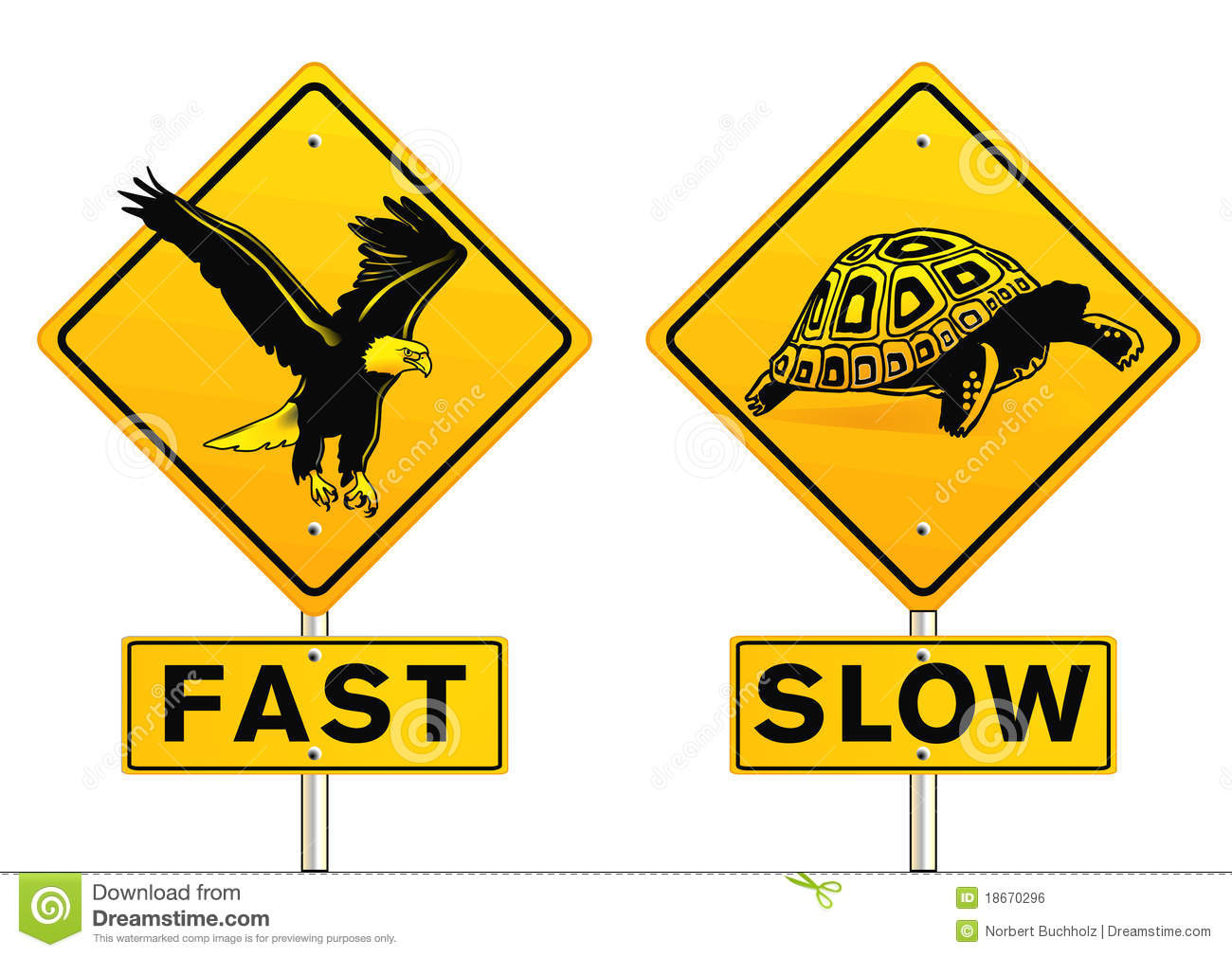 Fast And Slow Sign Royalty Free Stock Image