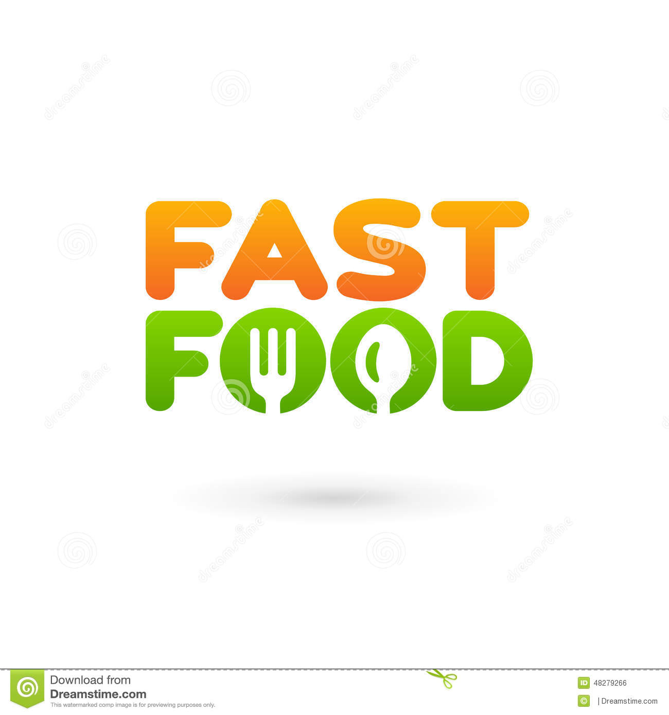 Fastfood Word Sign Logo Icon Design Template Elements With