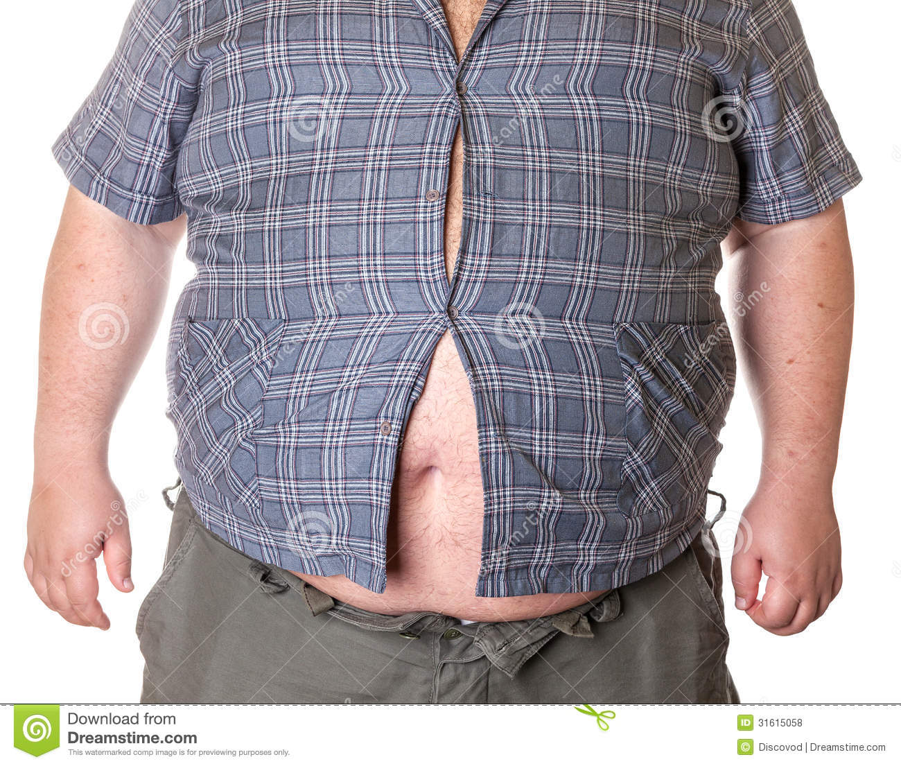 Fat Man With A Big Belly Stock Photo Image Of Overweight