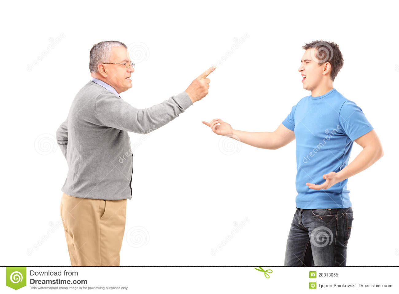 Father And Son Having An Argument Royalty Free Stock Photo